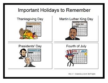 History - K.1 - Book - Thanksgiving, MLK Day, President's