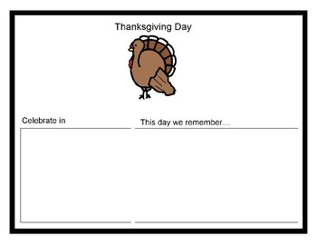 History - K.1 - Fill In Book - Thanksgiving, MLK Day, President's Day, 4th of Ju