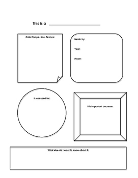 History Lesson Plan Through Art (Social Studies), Printables, Critical Thinking
