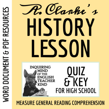 """History Lesson"" by Arthur C. Clarke - Quiz & Key"