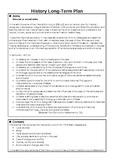 History Long Term Plan for 5th Class EDITABLE