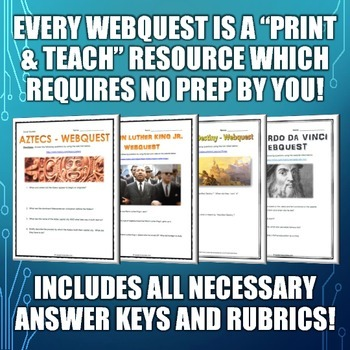 History Matters - EVERY WEBQUEST IN MY STORE! (World History / American History)