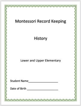 History Montessori Record Keeping