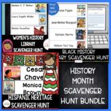 History Month Library Scavenger Hunt Bundle