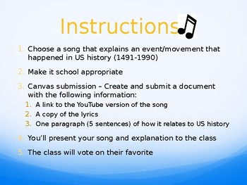 History Music Activity