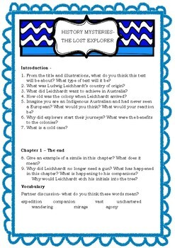 History Mysteries- The lost explorer comprehension