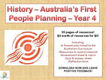 History Planning The First People of Australia Year 4