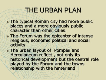 History: Pompeii and Herculaneum - The Urban Plan
