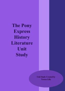 The Pony Express History Literature Unit Study