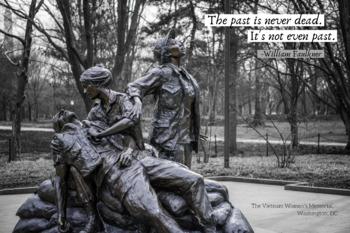 History Poster with Quote - Vietnam Women's Memorial