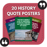 History Posters - 20 Great Quotes for History Classroom Bu