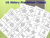 History Prohibition: US Regents Vocabulary Review Game (Taboo)
