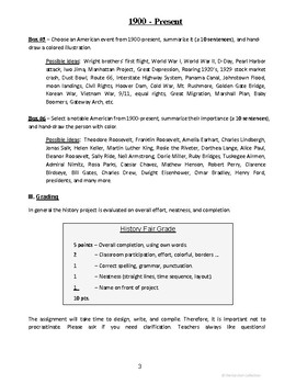 History Project - Assignment Sheet (Gr. 3-7)