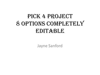 History Project Pick 4