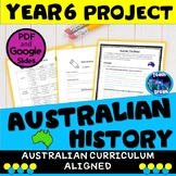 History Project Year 6 Australian Curriculum, HASS, Distance Learning