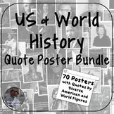 History Quote Poster Bundle - Social Studies Classroom Decor