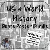 History Quote Poster Bundle - Social Studies Classroom Decor