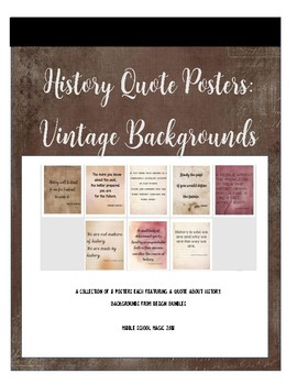 History Quote Posters: Vintage Backgrounds