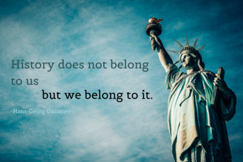 History Poster with Quote - Statue of Liberty