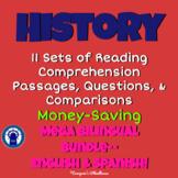 History Reading Passages, Questions, & More Mega Bilingual Bundle