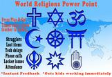 History & Religion Warm Up - World Religions- No teacher prep - Self-grading!