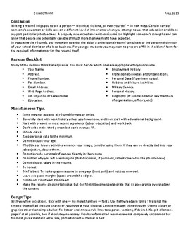 History Resume Final Project