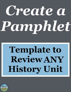 History Review Activity Pamphlet Template
