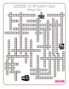 History Review Crossword Puzzle - Two Pack (Civil War to Present Day)
