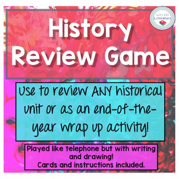 History Review Game for End of Unit or End of Year