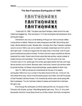 History: SAN FRANCISCO EARTHQUAKE 1906 +10... by Jacklyn Spark ...