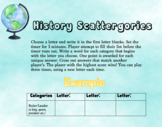 History Scattergories - Ready to Use Game