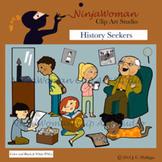 History Seekers Clip Art