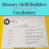 History Skill Builder: Vocabulary