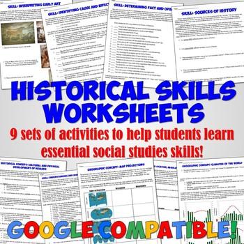 History Skills Activities and Worksheets
