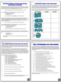 History Skills Activities and Worksheets