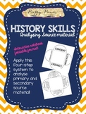 History Skills: Analysing Source Material Foldable