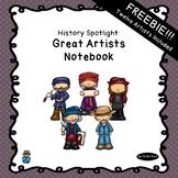 History Spotlight | Great Artists Unit Study Notebook