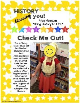 History Starring You!  { Wax Museum Organization Kit }