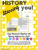History Starring You!  { Wax Museum Organization Kit }