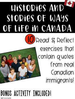 History & Stories of Ways of Life in Canada Bundle