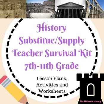 History Substitute Teacher Survival Kit