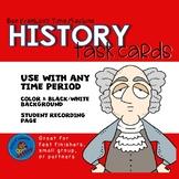 History Talk Task Cards