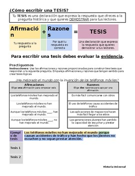 History Thesis Writing Spanish - Cómo escribir una tesis en español