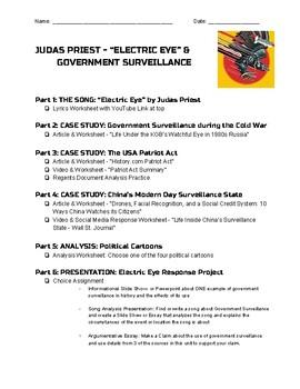 History Through Music - Judas Priest Electric Eye & Government Surveillance