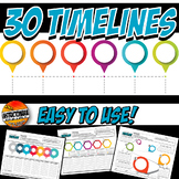 History Timeline Bundle for US, World, or Ancient History-