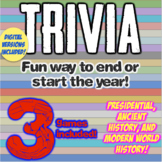 History Trivia: 3 Trivia Ice Breaker Games!  Presidents, Ancient, World History!
