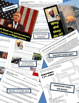 History U.S. - 9/11 - September 11th PowerPoint Lecture and Activity Package