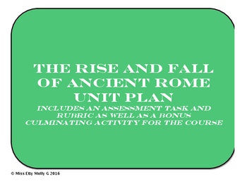 History Unit: The Rise and Fall of Ancient Rome