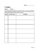 History Vocabulary Sheet