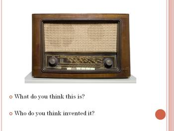 History Warm-ups:  Inventions